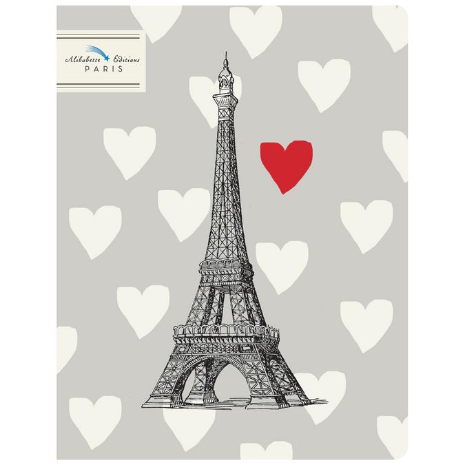 Cahier 17 x 22 cm 64 pages 100g Monsieur Eiffel