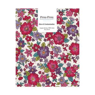 coupon de tissu en coton 45 x 55 cm grosses fleurs rouges frou frou chez rougier pl. Black Bedroom Furniture Sets. Home Design Ideas