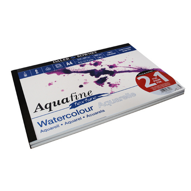 Lot de 2 blocs de papier aquarelle texturé Aquafine