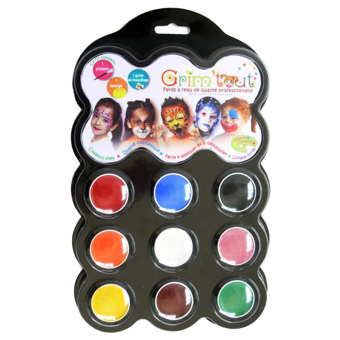 Palette de maquillage 9 couleurs - Carnaval