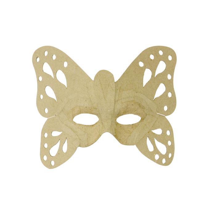 Masque de papillon en papier mâché