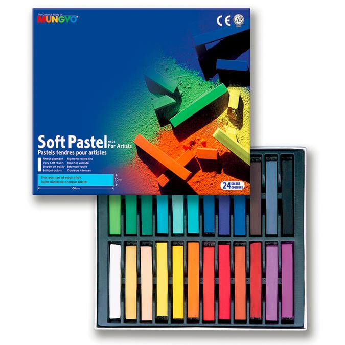Boîte de 24 pastels secs carrés