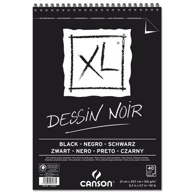 bloc de papier dessin noir xl canson chez rougier pl. Black Bedroom Furniture Sets. Home Design Ideas