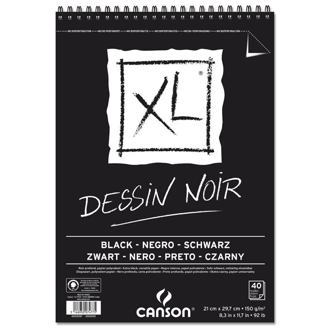 Bloc de papier dessin noir XL