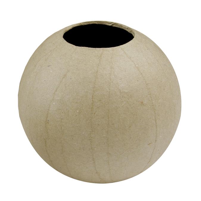 Vase boule en papier mâché 11 x 10,5 cm