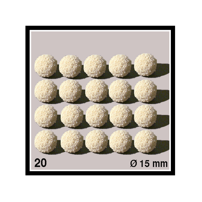 Boules éponge diamètre 15 mm