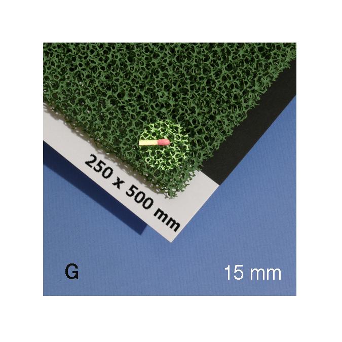 Mousse pour végéation verte alvéole 15 mm