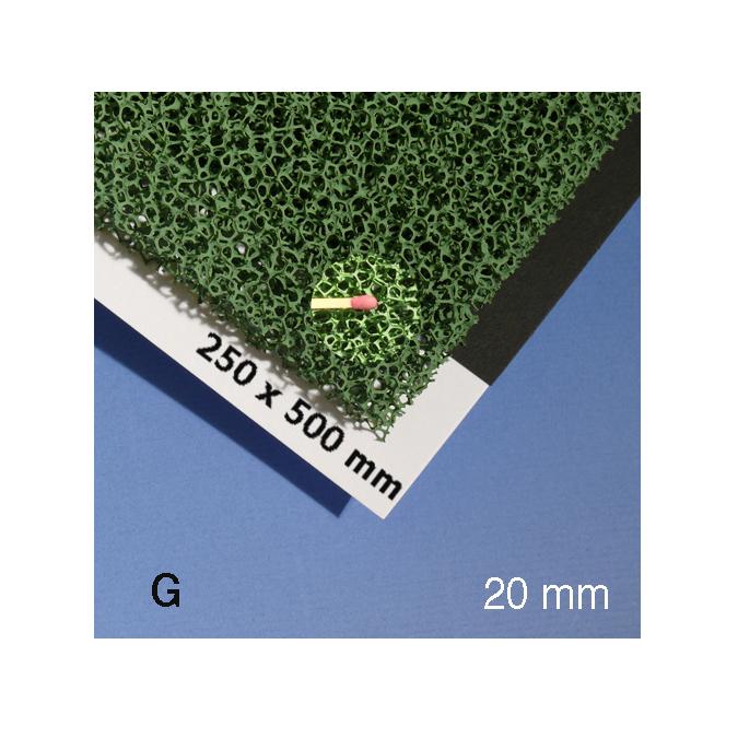 Mousse pour végétation verte alvéole 20 mm