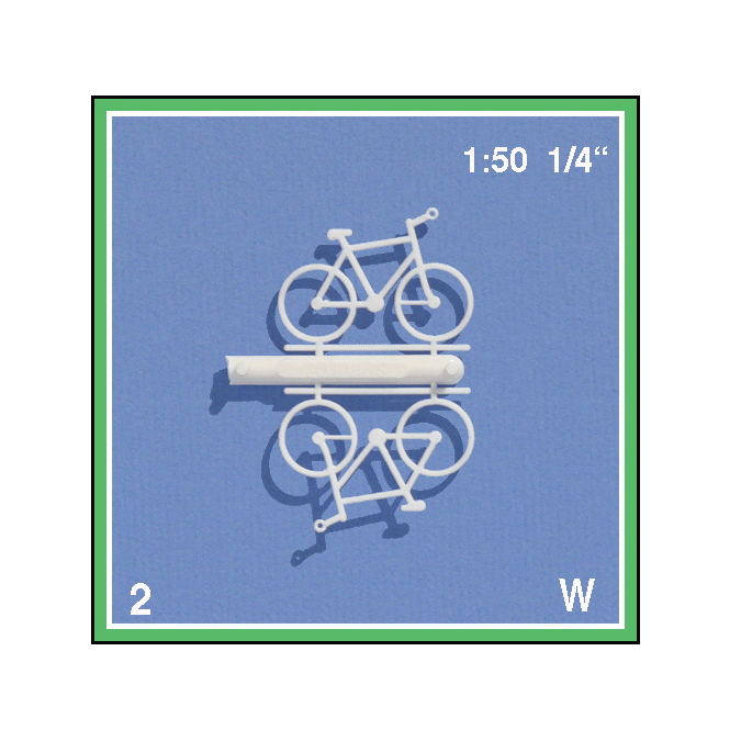 Bicyclettes blanches 1 : 50