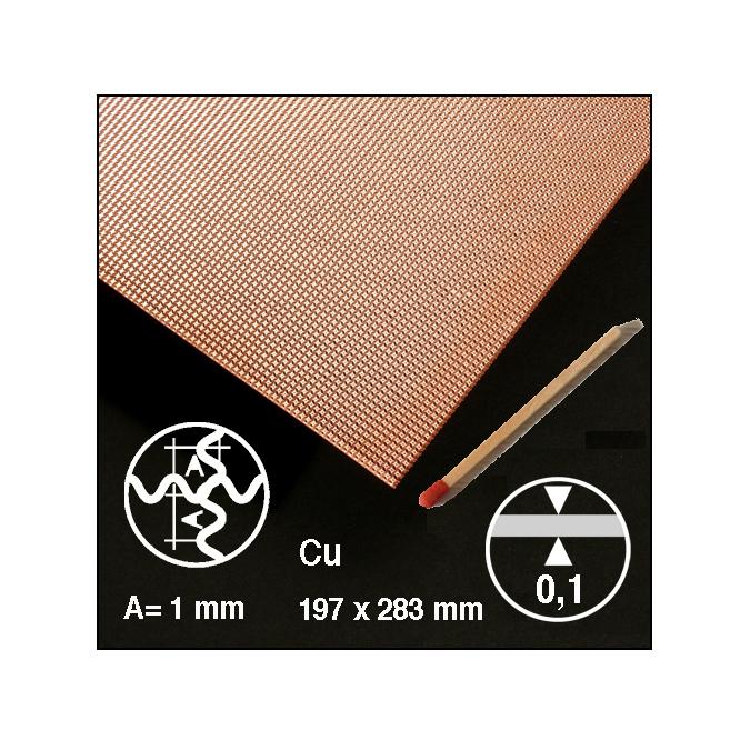 Tôle ondulée 2 sens en cuivre motif 1 mm