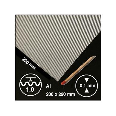 t le ondul e en aluminium motif 1 mm schulcz chez rougier pl. Black Bedroom Furniture Sets. Home Design Ideas