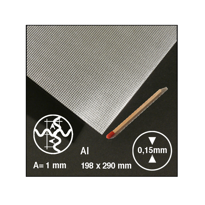 Tôle ondulée 2 sens en aluminium motif 1 mm
