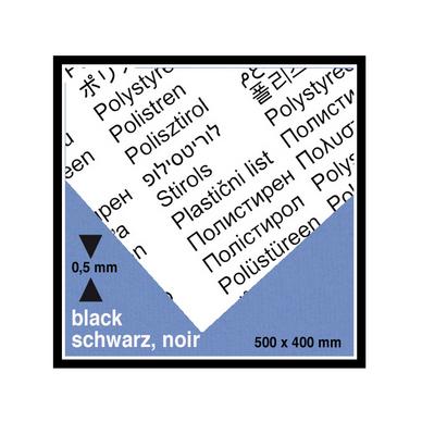 plaque de plastique noire opaque 40 x 50 cm ep 0 5 mm schulcz chez rougier pl. Black Bedroom Furniture Sets. Home Design Ideas