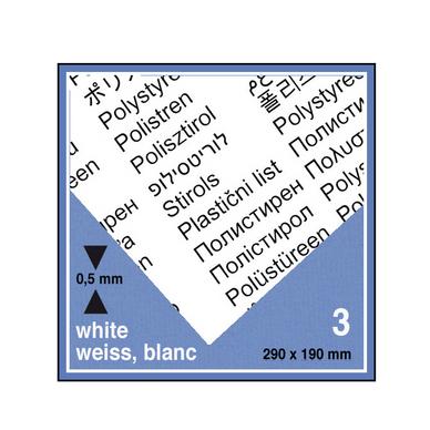 plaque de plastique blanc 19 x 29 cm ep 0 5 mm 3 pcs. Black Bedroom Furniture Sets. Home Design Ideas