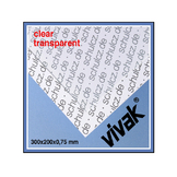 Plaque de plastique transparent 30 x 20 cm ep. 0,75 mm