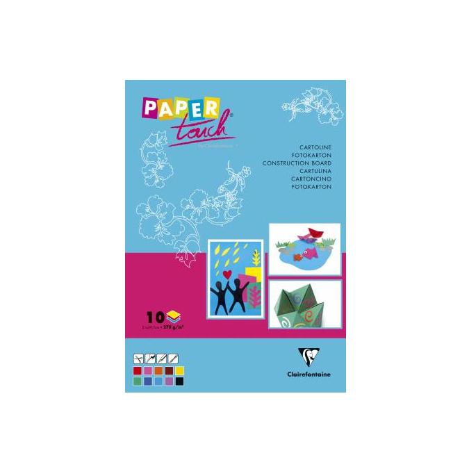 Papier créatif 270g A4 Cartoline bloc de 10 teintes
