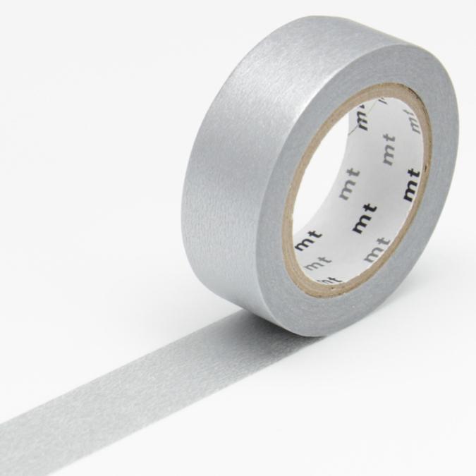Masking tape uni argenté