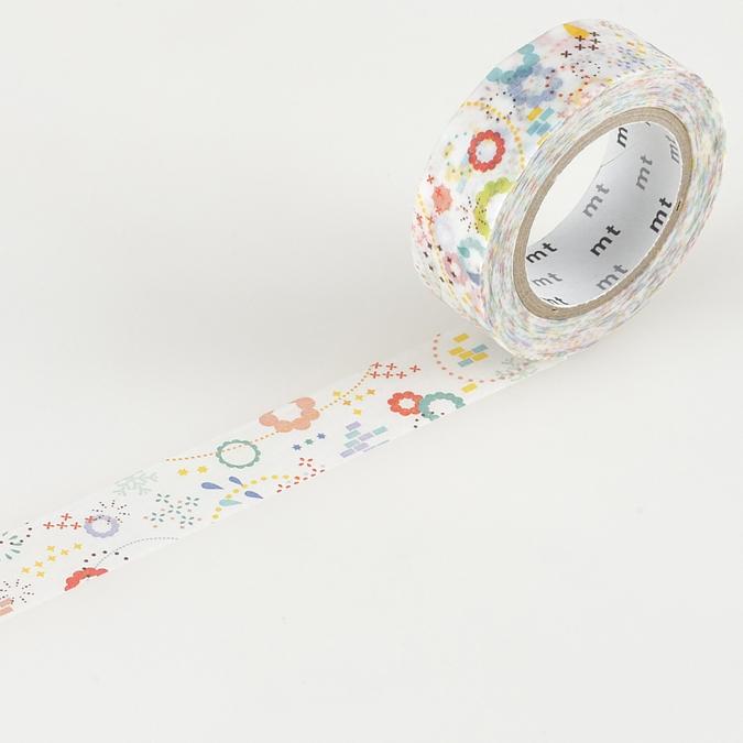 Masking tape fleurs pop multicolores