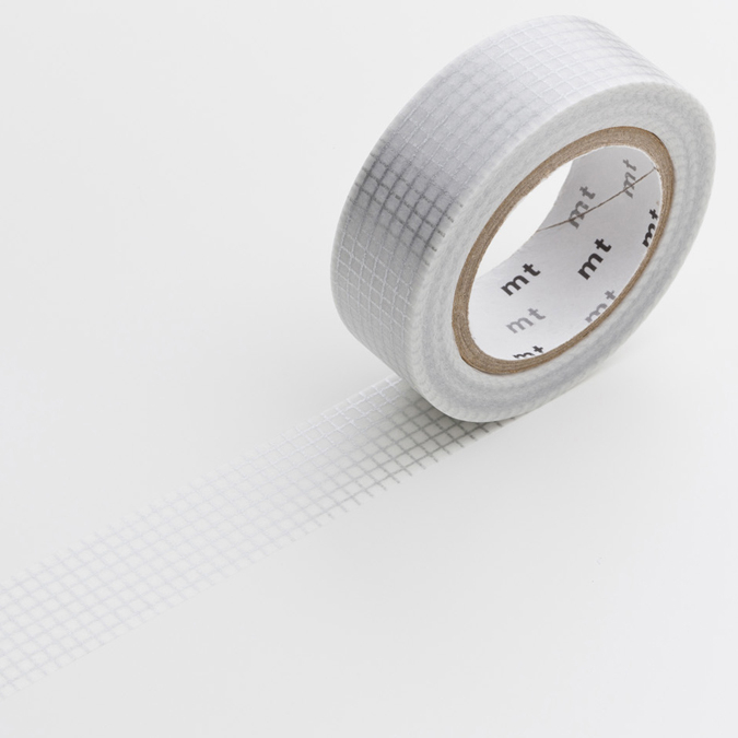 Masking tape quadrillé gris