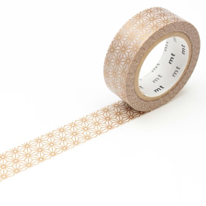 Masking tape fleurs stylisées doré