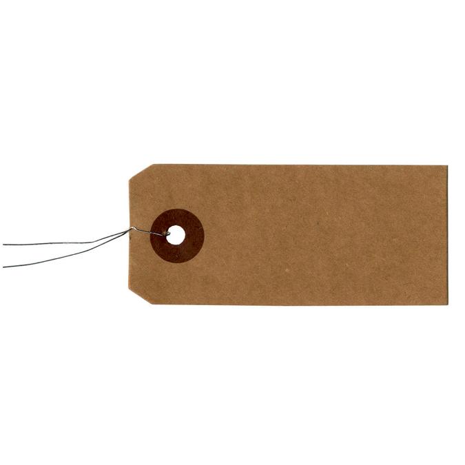 Etiquette kraft avec fil métal 50 pièces