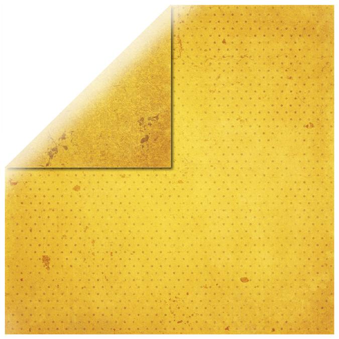 Papier vintage jaune or 30x30cm