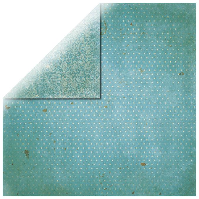 Papier vintage turquoise 30x30cm