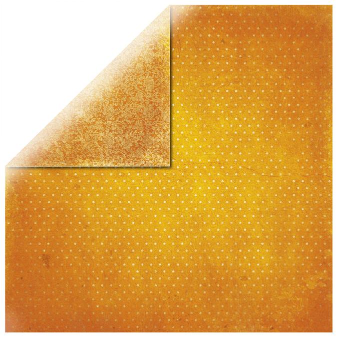 Papier vintage orange 30x30cm