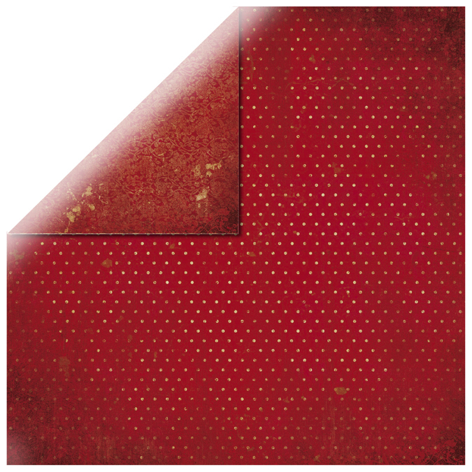 Papier vintage rouge cerise 30x30cm
