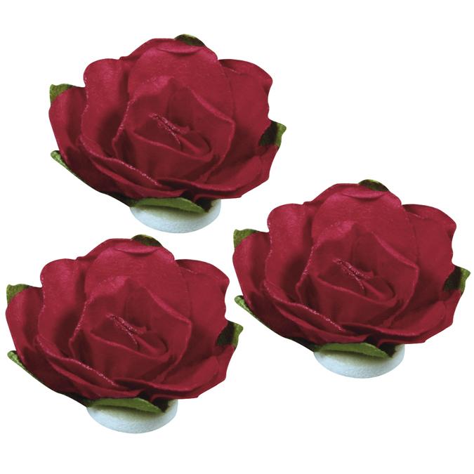 Roses en papier rouge 15mm 15 pièces