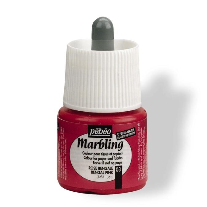 Peinture Marbling 45 ml Cyan