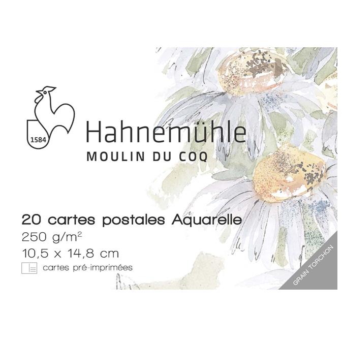 Bloc de papier aquarelle format carte postale 10,5 x 14,8 cm