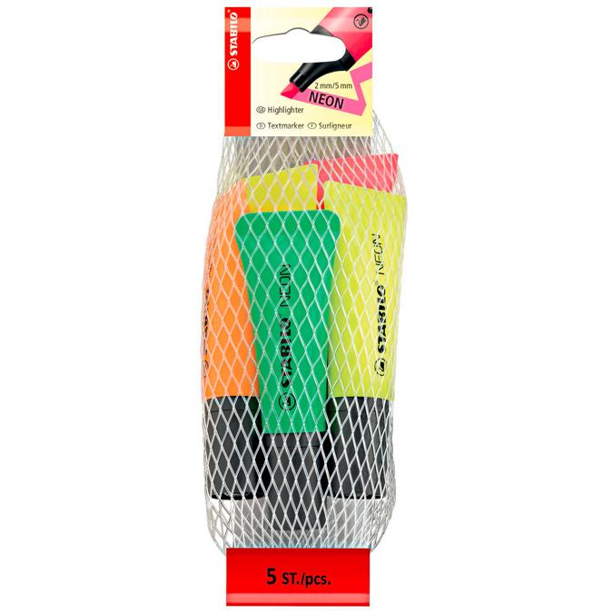 Filet 5 surligneurs néon