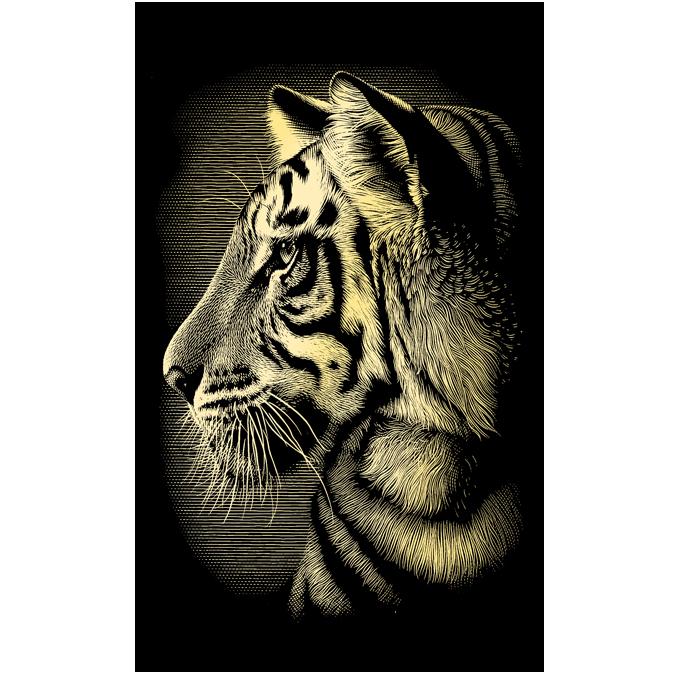 Carte à gratter dorée Tigre