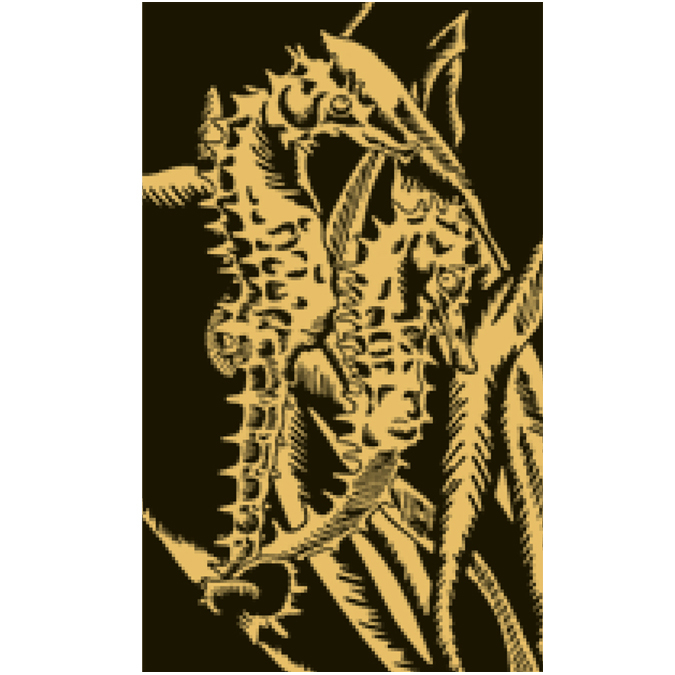 Carte à gratter dorée Papillon
