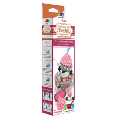 Chantilly d corative rose avec poche douilles dtm chez - Fabriquer poche a douille ...