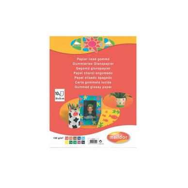 papier lisse gomm 25x32 cm 10 feuilles assorties maildor chez rougier pl. Black Bedroom Furniture Sets. Home Design Ideas
