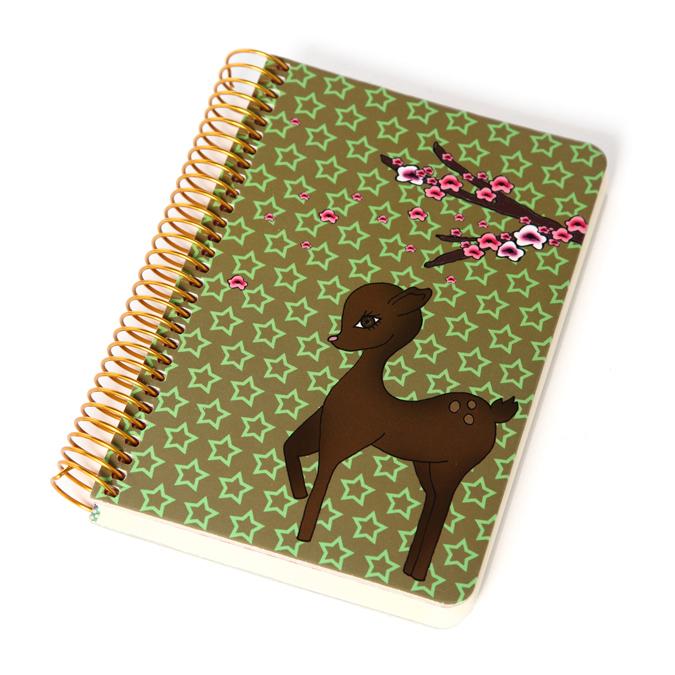 Carnet à spirales Bambi personnalisable avec stickers