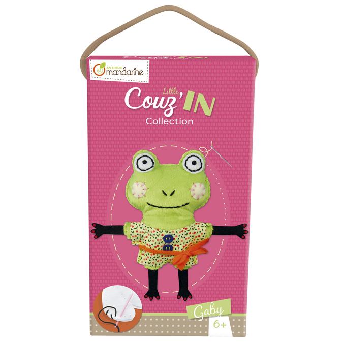 Doudou à coudre Gaby la grenouille