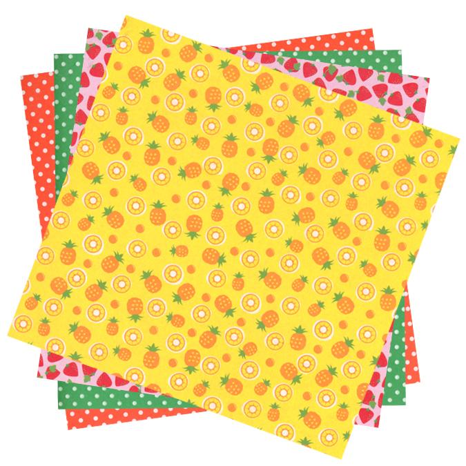 Papier origami Fruits 15x15cm 20 feuilles