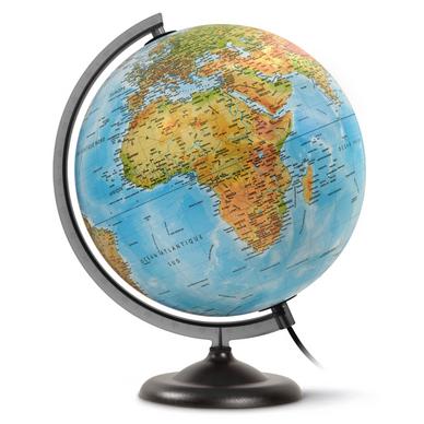 globe terrestre lumineux jpc cr ations chez rougier pl. Black Bedroom Furniture Sets. Home Design Ideas