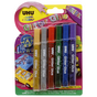 Colle pailletée set de 6 crayons assortis