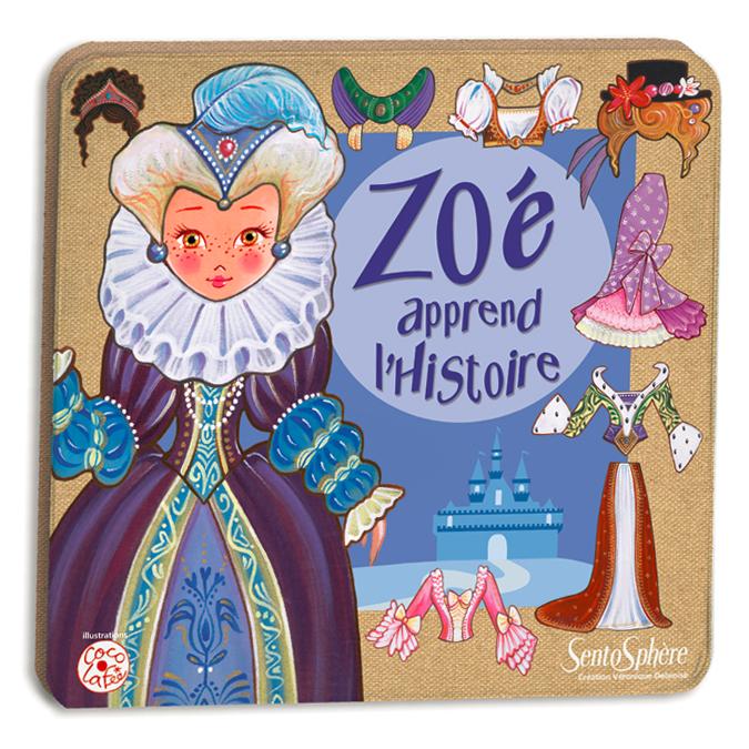 Poupée magnétique à habiller Zoé apprend l'histoire