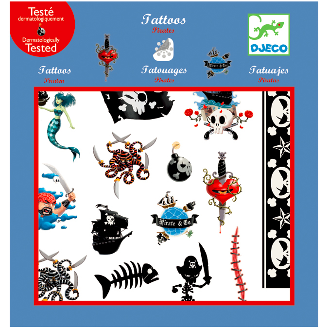 Coffret de tatouages Pirates