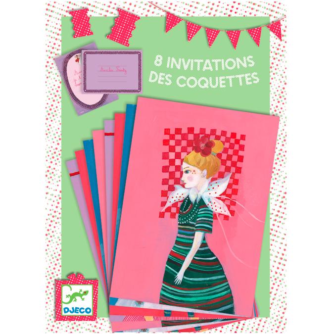 Coffret de création 8 invitations Princesse