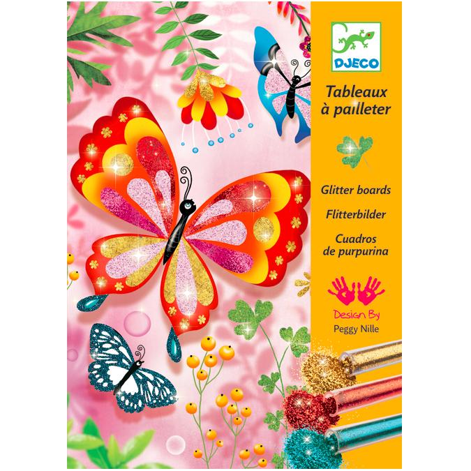 Tableau à pailleter papillons
