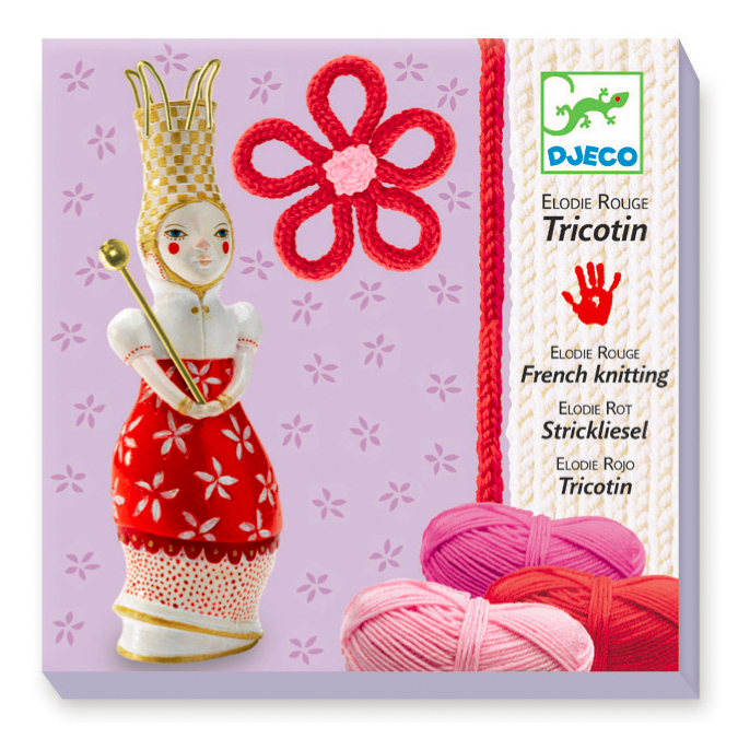 Coffret tricotin rouge Elodie