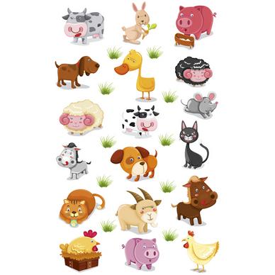 Autocollants relief animaux de la ferme maildor chez - Images d animaux de la ferme ...