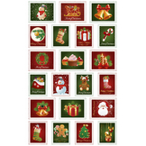 Autocollants relief Timbres noël