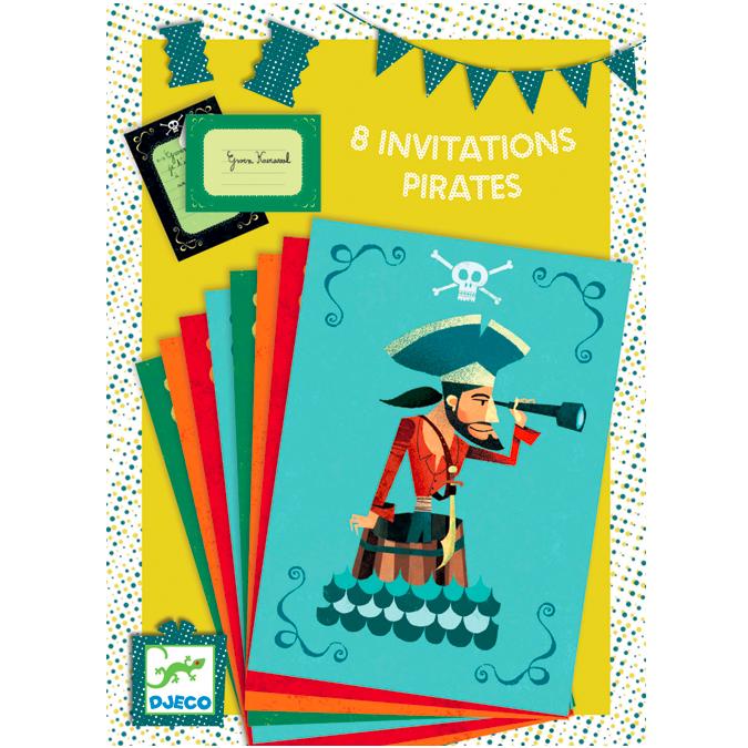 Invitations d'anniversaire thème Pirate